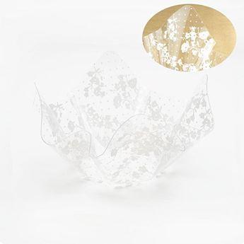 Imagen de Bol pañuelo transparente decorado 13cm x7cm