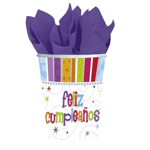 Imagen de Vasos Feliz Cumpleaños radiante (8)