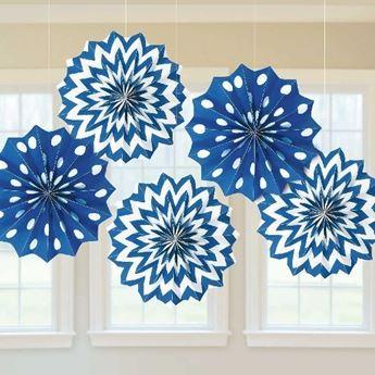 Imagen de Decorados abanicos original azul marino (5)