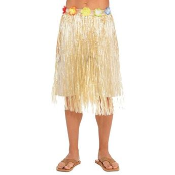 Imagen de Falda hawaiana unisex tono natural