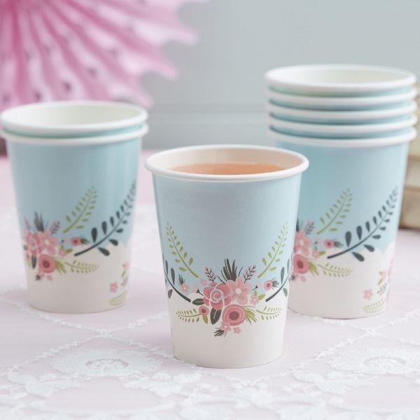 Imagen de Vasos fantasía floral (8)