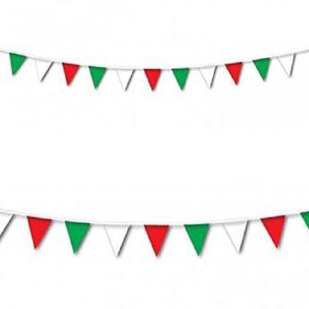 Imagen de Banderín bandera Italia triángulo 7.6metros