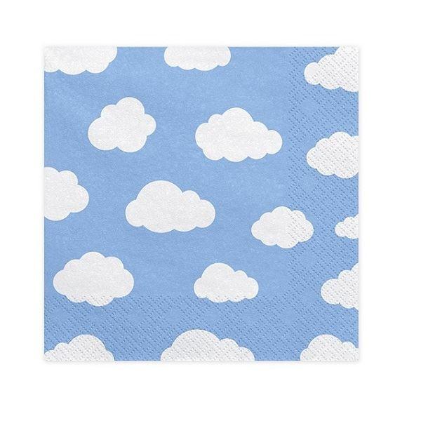 Imagen de Servilletas nubes color azul (20)