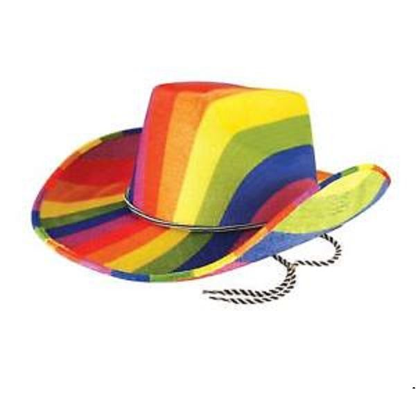 Sombrero vaquero arcoiris ✅ por sólo 3 d7b72ae14c3