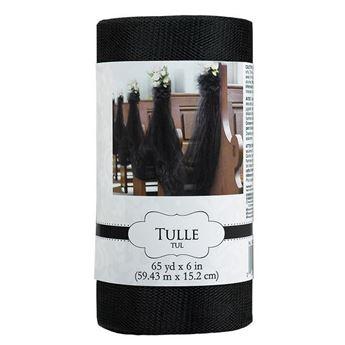 Imagen de Tul rollo color negro (59 m)