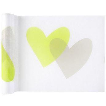 Imagen de Camino de mesa corazones verdes (5 metros)