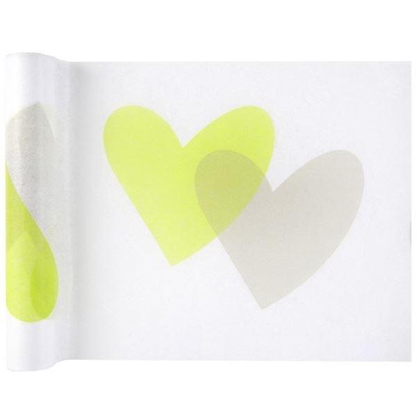 Imagens de Camino de mesa corazones verdes (5 metros)