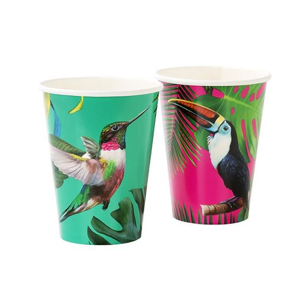 Picture of Vasos Tropical pájaros grandes (12)