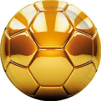 Imagen de Platos fútbol balón oro grandes (8)