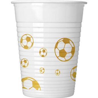 Picture of Vasos fútbol balon oro (8)