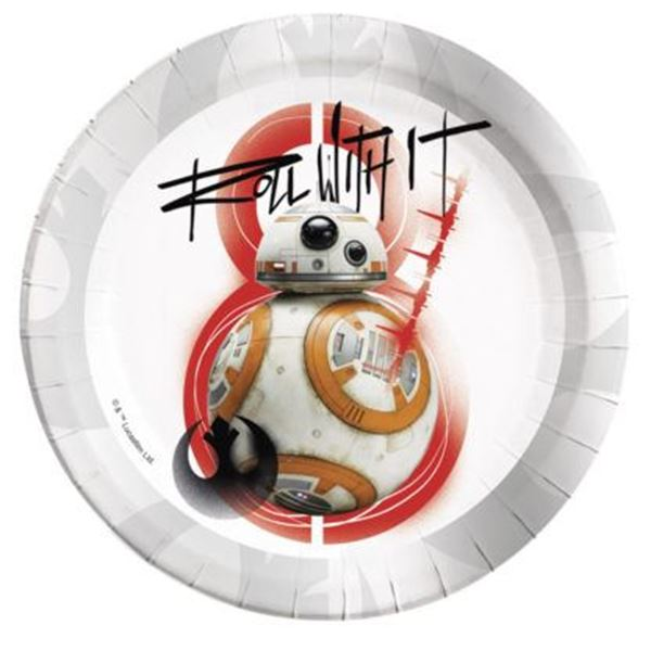 Picture of Platos Star Wars Último Jedi BB8 grandes (8)