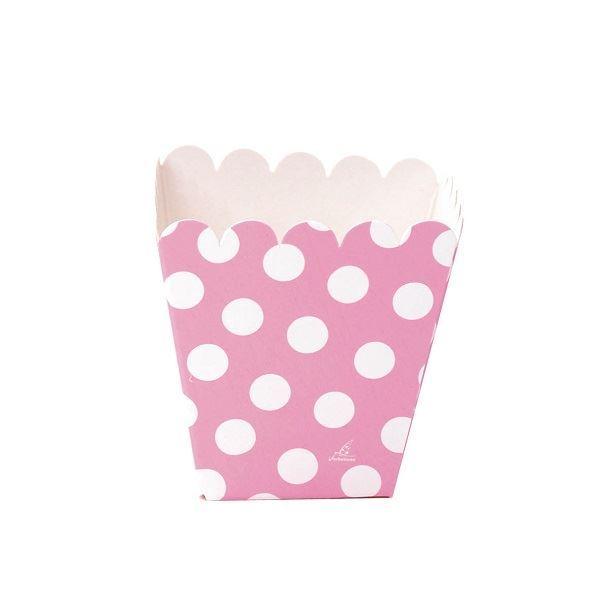 Imagen de Cajitas rosas puntos blancos pequeñas (12)