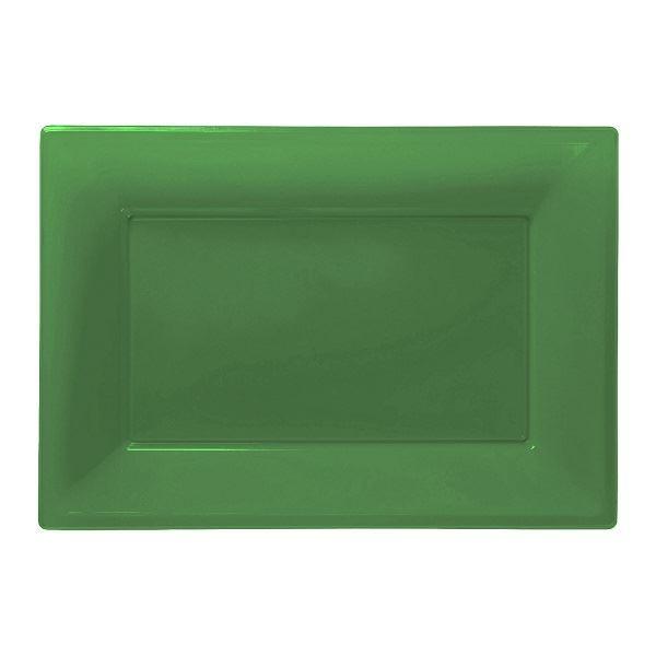Imagen de Bandejas verdes plástico (3)