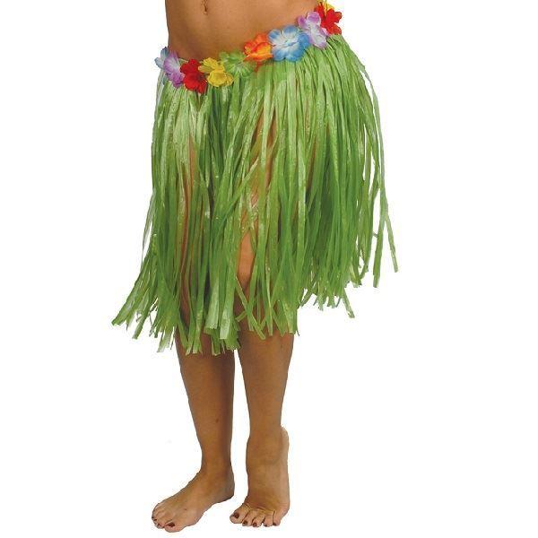 Imagen de Falda hawaiana Flores verde