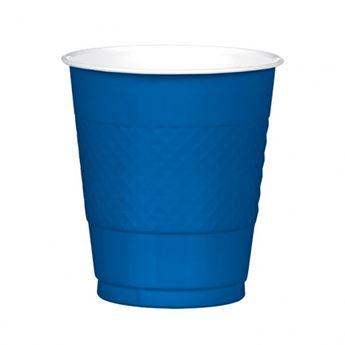 Imagen de Vasos azul marino plástico (10)