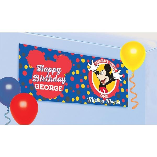 Picture of Banner Mickey Mouse personalizable