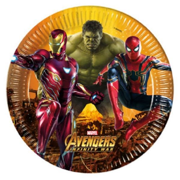 Platos Vengadores Infinity War Grandes 8 Por Solo 2 99 Tienda