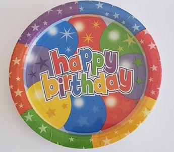 Imagens de Platos Happy Birthday colores estrellas  (8)