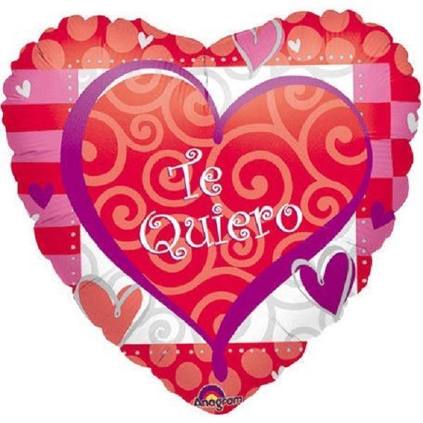 Imagen de Globo Te quiero rojo y rosa