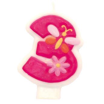 Imagens de Vela 3 rosa glamour