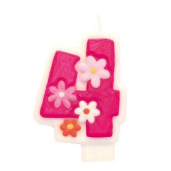 Imagens de Vela 4 rosa glamour