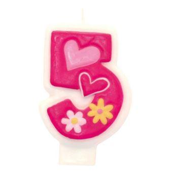 Imagens de Vela 5 rosa glamour