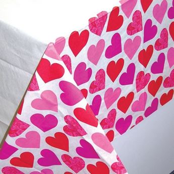 Picture of Mantel corazones papel