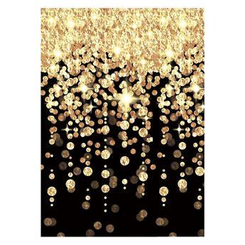 Imagen de Fondo pared cascada dorada Hollywood 12 metros