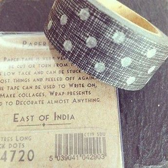 Picture of Washi tape negro puntos blancos (10m)