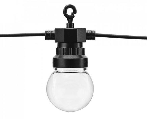 Imagens de Guirnalda negra de luces led 8m (Luz Blanca cálida)
