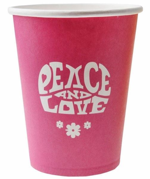 Picture of Vasos hippie flower power fucsia (10)