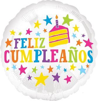 Picture of Globo feliz cumpleaños estrellas