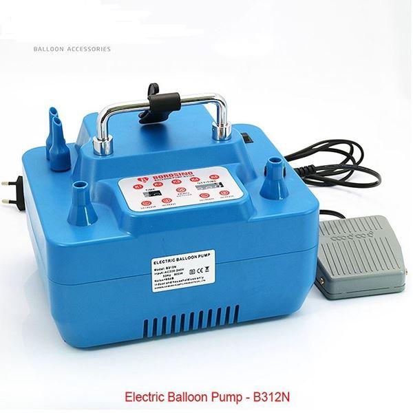 Imagen de Inflador eléctrico 2 boquillas Azul con temporizador