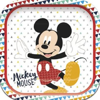 Imagens de Platos Mickey Mouse increíble Cuadrados (4)
