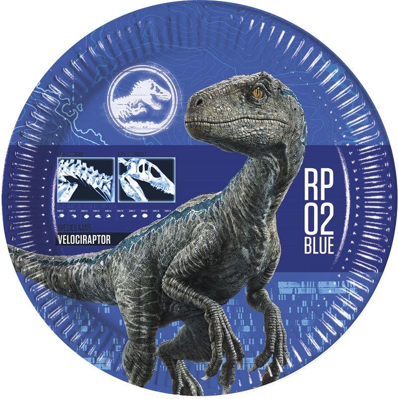 2 Azul8 Platos World Jurassic Dinosaurios nwOX0kP8
