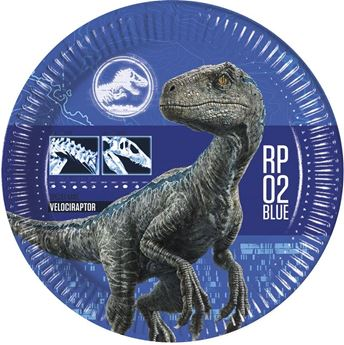 Picture of Platos Dinosaurios Jurassic World 2 azul (8)