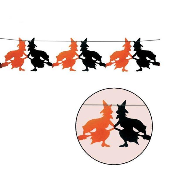 Imagen de Guirnalda brujas naranja y negro 3m