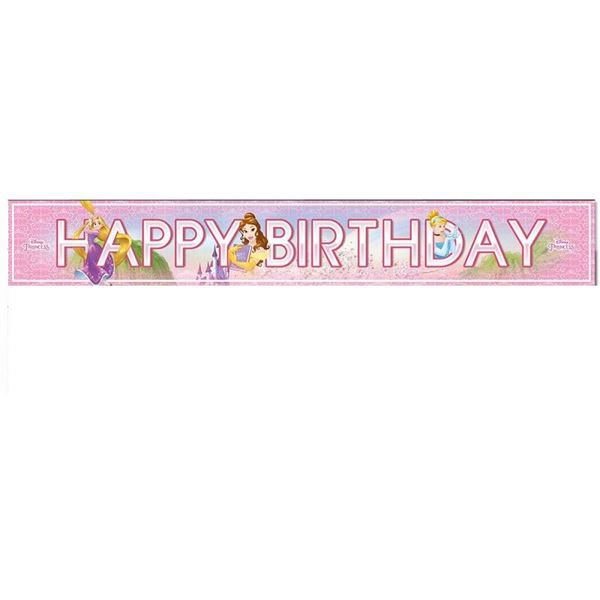 Picture of Banner Happy Birthday Princesas Disney (3)
