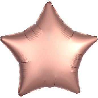 Picture of Globo estrella rosa dorado satín