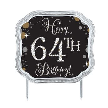 Imagen de Topper tarta personalizable Happy Birthday elegante