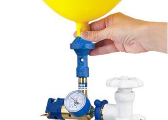 Picture of Hinchado, inflado, de helio del globo para recoger en tienda (1)