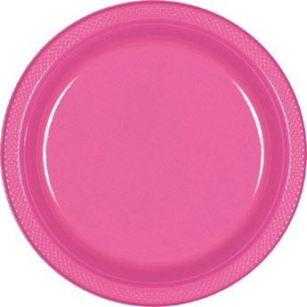 Imagen de Platos rosa plástico grandes (10)