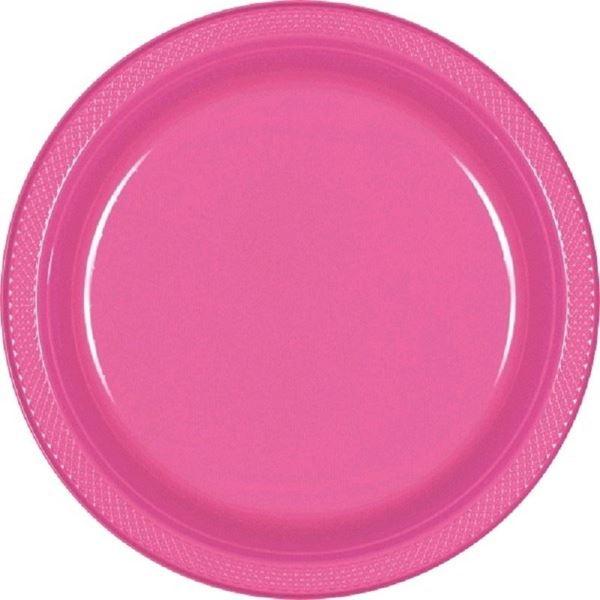 Imagens de Platos rosa plástico grandes (10)