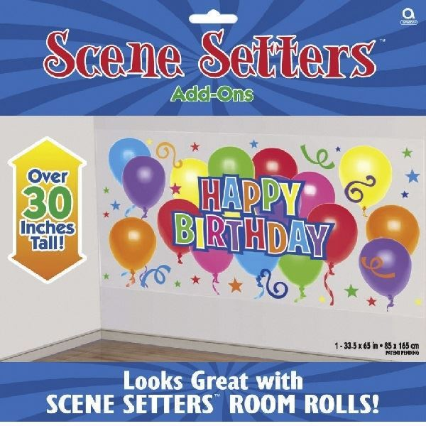 Picture of Banner Happy Birthday globos