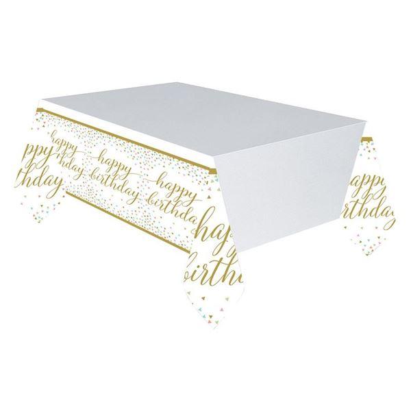 Imagen de Mantel Happy Birthday confeti