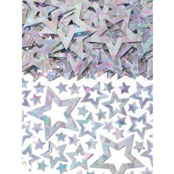 Picture of Confeti estrellas plata troquelada (14g)