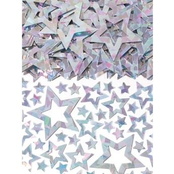 Imagens de Confeti estrellas plata troquelada (14g)