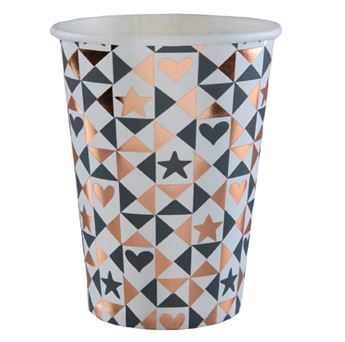 Picture of Vasos corazones Rose & Gold (10)