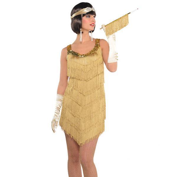 Imagens de Disfraz Charleston dorado Talla 40-42