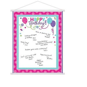 Imagen de Pancarta hoja de firmas rosa y verde